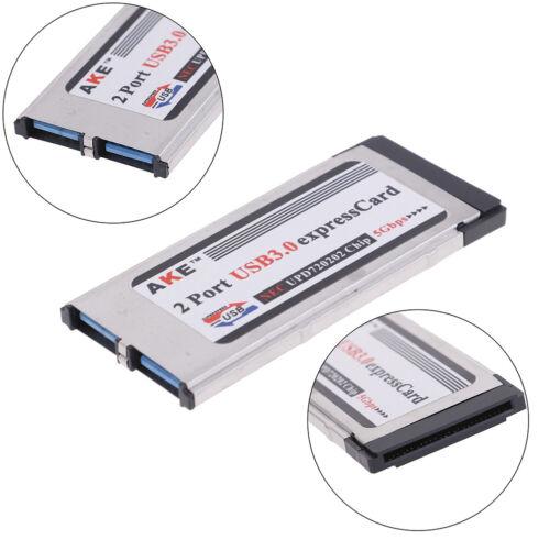 !2 Ports USB 3.0 express card expresscard 34mm//54mm hidden adapter for lapto DFI