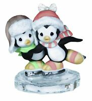 Precious Moments Two Penguins Ice Skating Figurine, New, Free Shipping on Sale