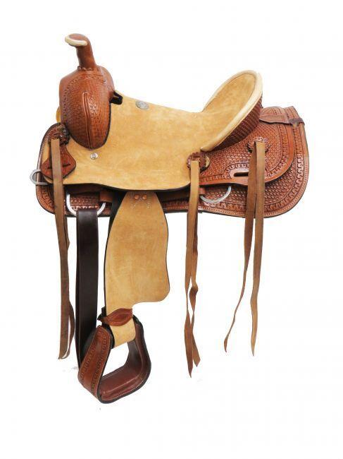 doppio T hard seat roper style saddle 15