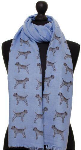 Border Terrier Scarf dog print scarves printed ladies fashion womens shawl