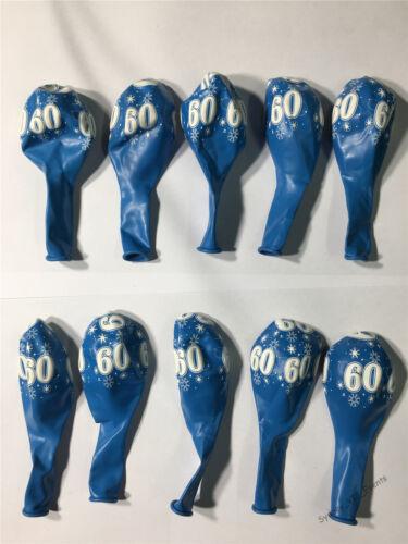 60TH BIRTHDAY PARTY SUPPLIES SPARKLE AROUND ROBIN/'S EGG BLUE BALLOONS PK10 USA