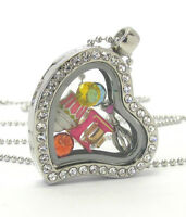 Origami-style Cooking Food Heart Floating Charm Heart Locket 23  Necklace