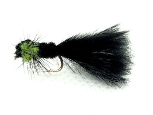 3 Green MONTANA Trout Flies MARABOU Tail Stonefly Nymphs Fly Fishing Size 10,12