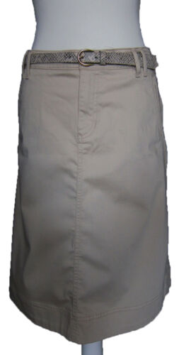 New Womens Marks /& Spencer Per Una Beige Skirt /& Belt Size 14 12 10