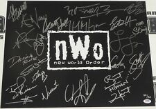 Hulk Hogan Scott Hall Sting Bret Hart Great Muta+ Signed NWO 16x20 Photo WWE WCW