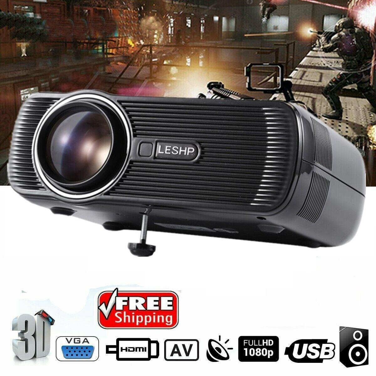 LED Projector Home Cinema BL-80 Support PC Laptop USB TV Box iPad  Smartphone US   eBay