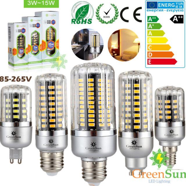 E27 E14 LED Maïs Ampoule Lampe Lumière Spot Bulb Blanc 5730 5630 SMD 5-18W
