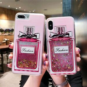 New Dynamic Perfume Bottle Liquid Glitter Phone Case Cover For Iphone Samsung Ebay