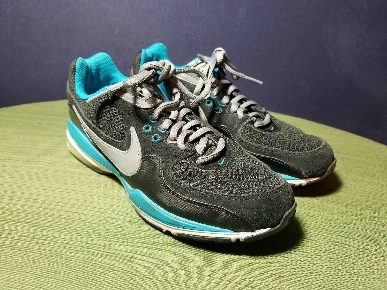 Nike Training Air Team 88 Ladies Black & Blue Athletic Running Shoes Comfortable Seasonal price cuts, discount benefits