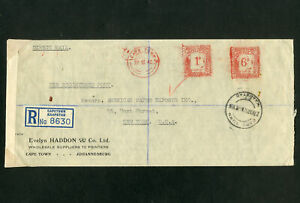 South-Africa-WWII-1942-Red-Seal-Stamp-Cover