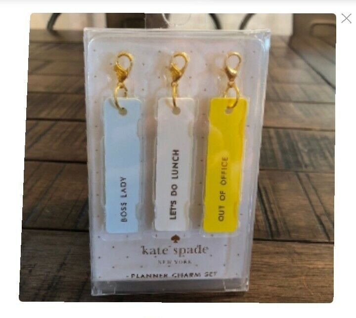 """Kate Spade """"boss Lady"""" Planner Charm Set Aromatic Flavor"""
