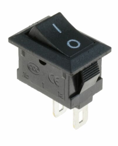 Mini Black On-Off Rectangle Rocker Switch SPST