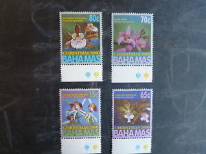2000-BAHAMAS-CHRISTMAS-SET-OF-4-ORCHID-MINT-STAMPS-MNH