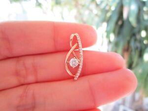 .27 Carat Diamond Rose Gold Pendant 18k codePx12 sep