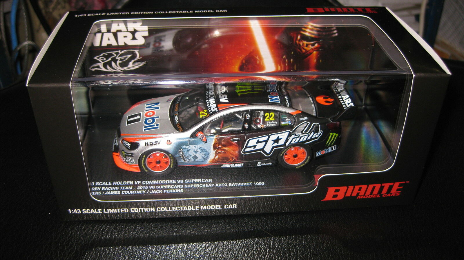 BIANTE BIANTE BIANTE 1 43 HOLDEN COMMODORE VF 2015 BATHURST COURTNEY PERKINS INGALL STAR WARS e7de2b