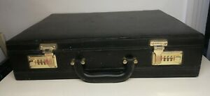 Attache-case-noir-Deco-Vintage-XXeme-Siecle-L-44-Cm-transport-valise