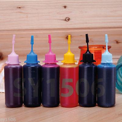 6 x 50ML Bulk Dye Ink Refill for Epson Photo R260 R280 R380 RX580 RX595 RX680