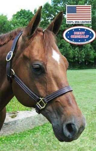 Derby Originals American Elegance Triple Stitch Halter Fabriqué USA leather