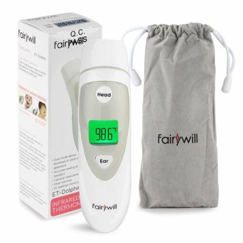 Fairywill Fieberthermometer 3 IN1 2 Modi 1 Sek Messzeit für Kinder Erwachsene