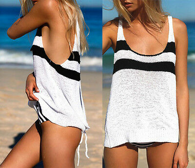 Fashion Womens Summer Casual Vest Tank Tops Sleeveless Shirt Blouse Outfit
