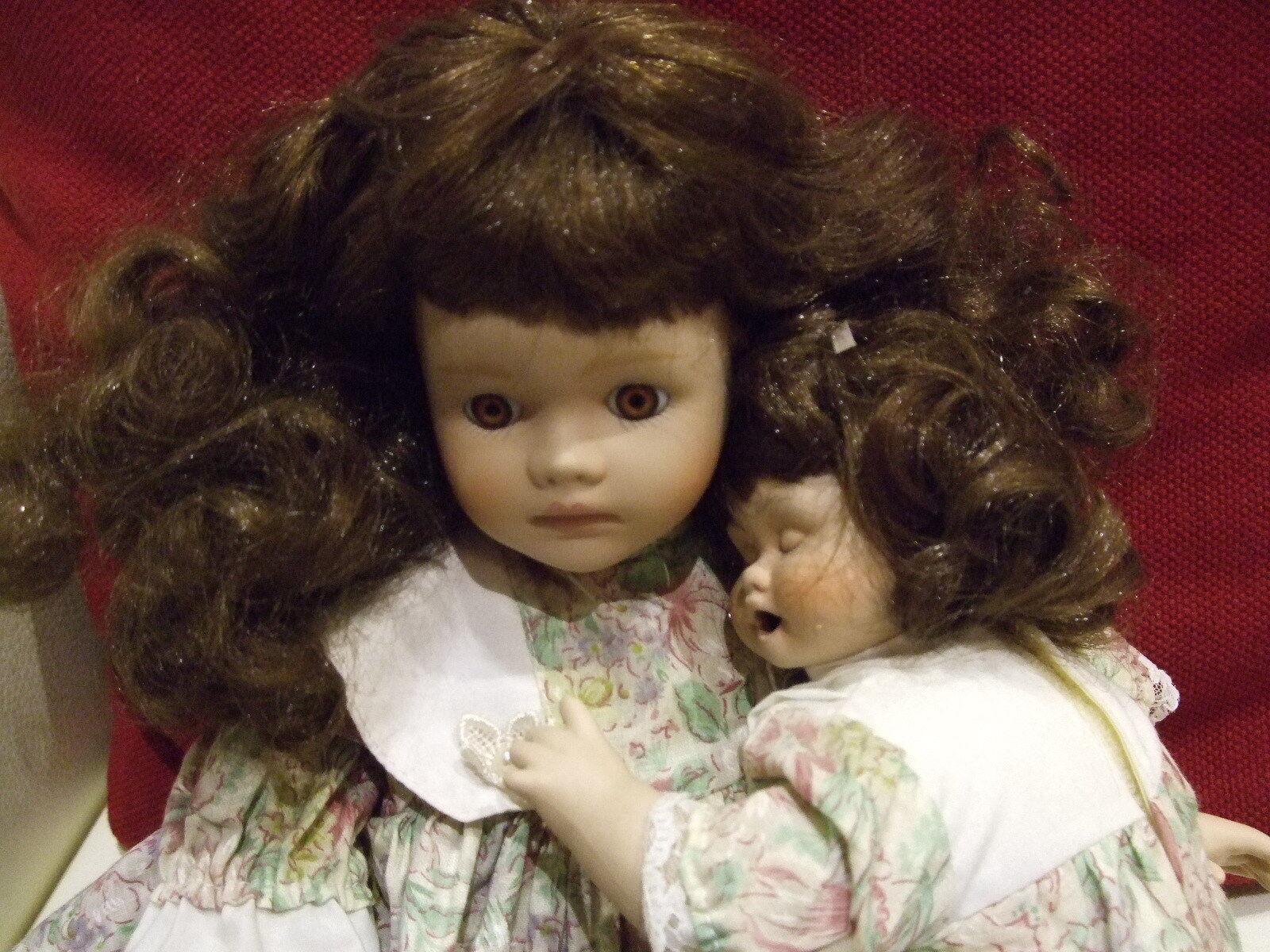 Künstlerpuppe Gilde Puppe mit mit Puppe Baby Kollektion Puppenstube Handarbeit mit zertif cff181