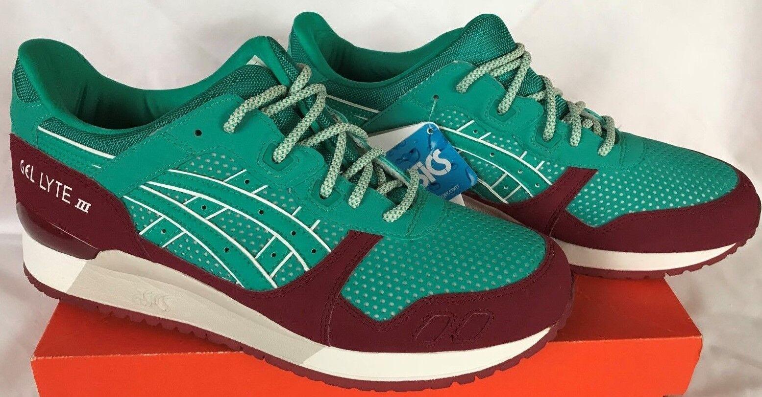 Asic gel lyte iii h628y spettri verdi retr�� maratona maratona maratona scarpe da corsa degli uomini nuovi 10 99bc56