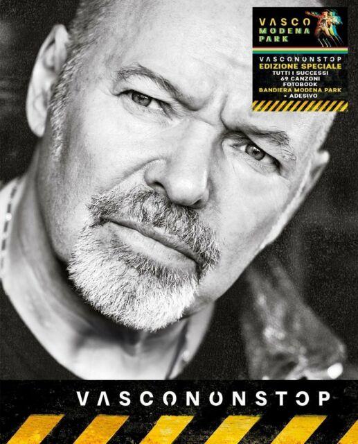 VASCO ROSSI Vascononstop (4Cd+Bandiera Modena Park 01-07-17+Adesivo) 2017 Nuovo