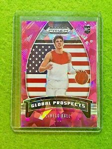 LAMELO BALL PRIZM PINK ICE ROOKIE CARD JERSEY #1 RC HORNETS SP 2020 Panini Prizm