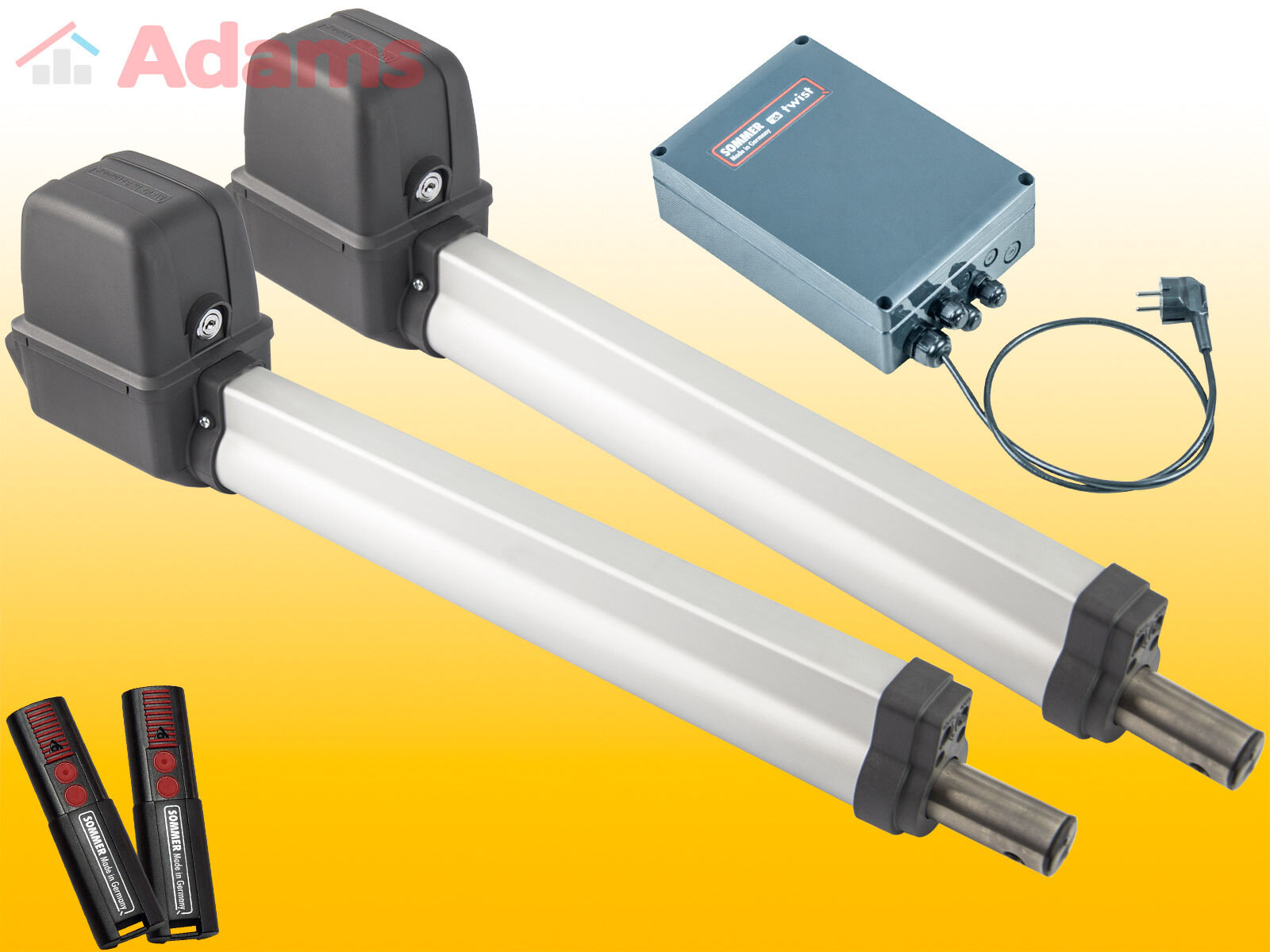 Sommer Twist 200E - Drehtorantrieb (2-flüglig) mit 2 Handsender 4026 - Set 3in1B
