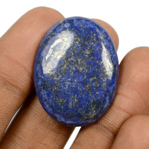 Blue Glass Filled Gemstone Cabochon Oval Shape Use For Jewelry 21X14X11 mm 37 Cts
