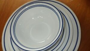 Corelle Dinnerware by CORNING Classic Cafe Blue service for 6 dish set 24 pcs