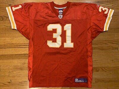 VTG Reebok Authentic Kansas City Chiefs Priest Holmes 31 Jersey 54 100% real | eBay