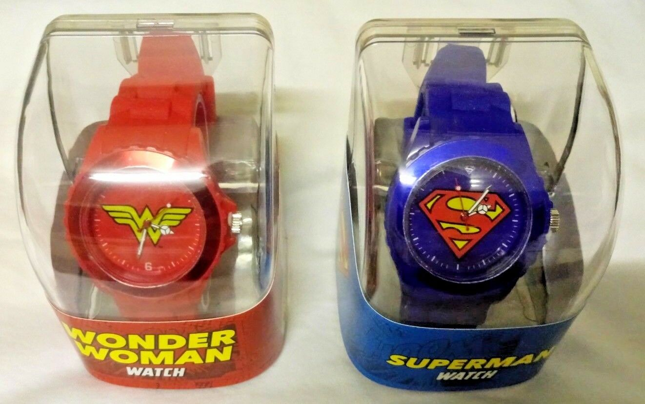 Superman and Wonder Woman Watches (Brand New) DC WB Justice League official