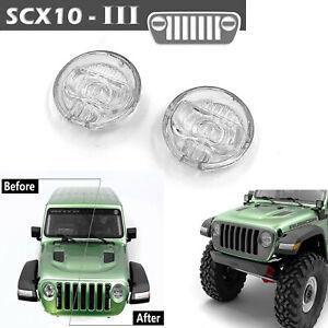 Auto-headlight-lens-cover-cubierta-de-las-lamparas-para-1-10-axial-scx10-III-jeep-RC-Truck