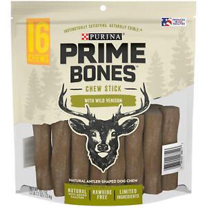 Brand NEW & SEALED!!! Purina Prime Bones Chew Stick with Wild Venison, 16 Chews