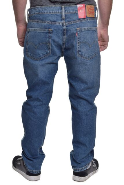 15441d12cfb Levi's Blue Mens Size 33x34 511 Slim SKINNY 2-way Stretch Jeans #161 ...