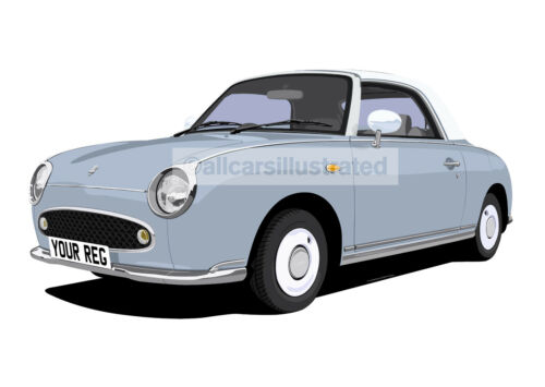 NISSAN FIGARO KEY RING CHOOSE YOUR CAR COLOUR.