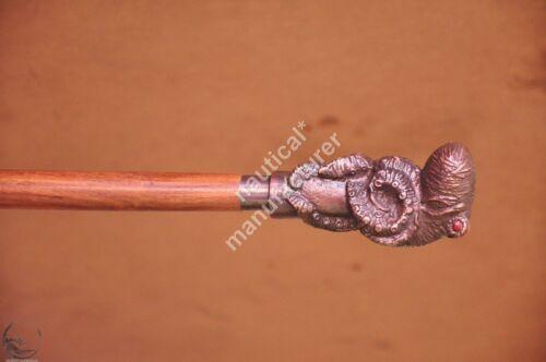 Vintage Solid Octopus Head Handle Cane Walking Stick Reenactment nautical Replic