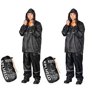 Regenbekleidung Regenanzug Regenhose Regenjacke Regenkombi Nässeschutz Anzug dunkelblau Angelsport