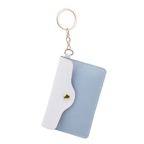 PU Coin Purse Pouch Mini Wallet Bag Charm Keychain Wallet LA