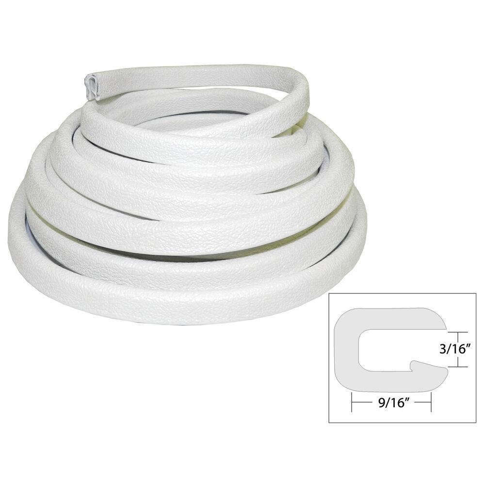 TACO Flexible Vinyl Trim  532 Opening x 916W x 25'L  bianca