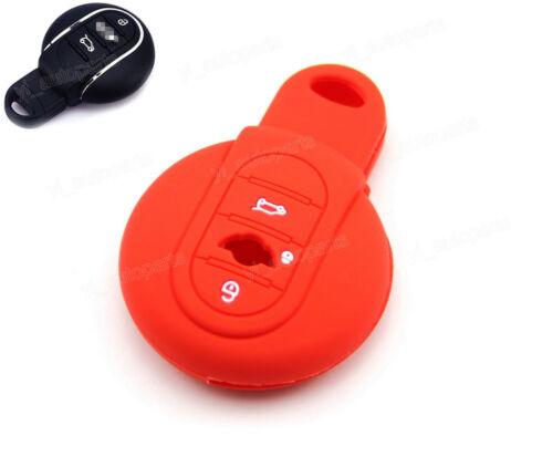 Red Silicone Case Cover For BMW Mini Cooper Remote Smart Key R56 F55 F56 MINERE