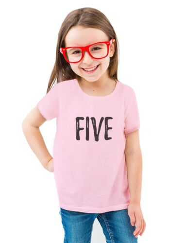 5th Birthday Gift For Five Year Old Child Toddler//Kids Girls/' Fitted T-Shirt