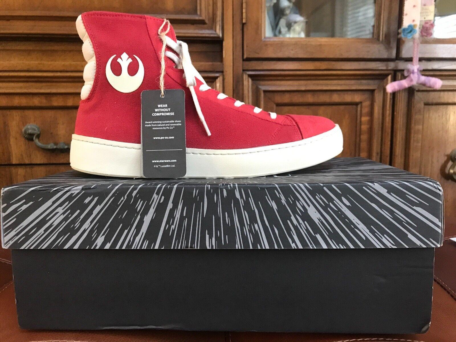 Po-ZU Star Wars Resistance Disney rojo alta Tops Poe Dameron zapatillas Talla 41
