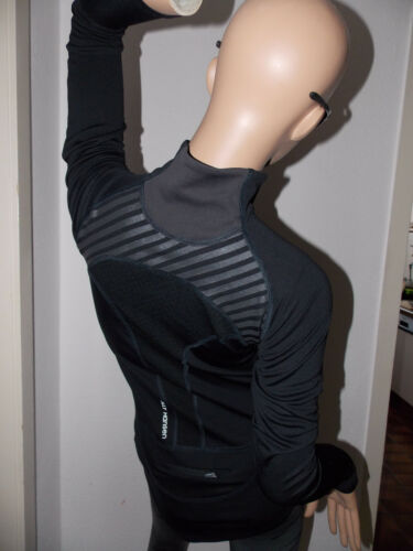 Camiseta Gr para 30 manga xs Ups mujer Negro solar deportiva Protector de larga Helly Hansen Jogging 56AtXFqF