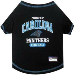 NFL Carolina Panthers Football Dog Tee Shirt for Dogs Size Large L ... 1b6ded772