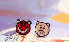 Disney toy story Strawberry bear  metal earring ear stud earrings 2PCS earring n