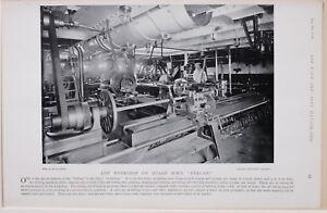 1896 Boer War Era Der Werkstatt On Board Hms Vulcan Bohren Maschine