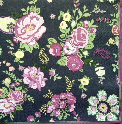 4 Lunch Paper Napkins for Decoupage Craft Vintage Napkin  Harmony Roses 4