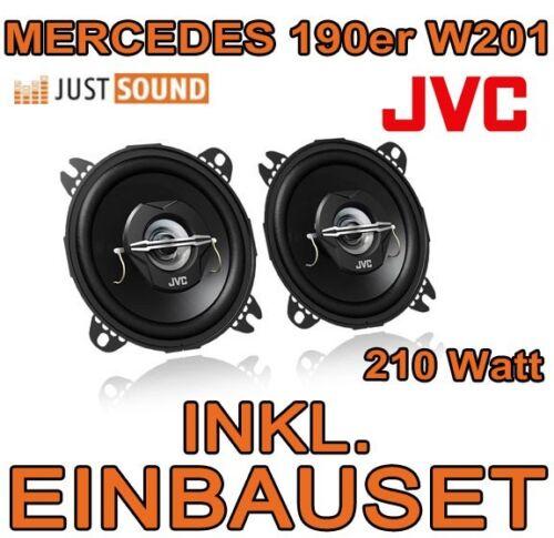 Mercedes 190 w201-altavoces JVC 210 vatios boxeo kit de integracion 190er coche turismos